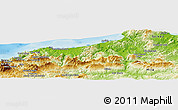 Physical Panoramic Map of Jijel
