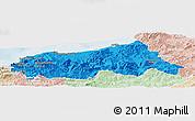 Political Panoramic Map of Jijel, lighten