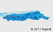 Political Panoramic Map of Jijel, single color outside