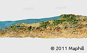 Satellite Panoramic Map of Jijel