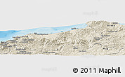 Shaded Relief Panoramic Map of Jijel
