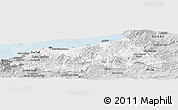 Silver Style Panoramic Map of Jijel