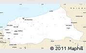 Classic Style Simple Map of Jijel