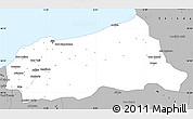 Gray Simple Map of Jijel
