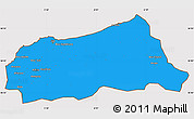 Political Simple Map of Jijel, cropped outside