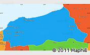 Political Simple Map of Jijel