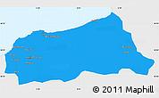 Political Simple Map of Jijel, single color outside