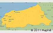 Savanna Style Simple Map of Jijel