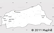 Silver Style Simple Map of Jijel, cropped outside