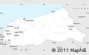 Silver Style Simple Map of Jijel