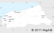 Silver Style Simple Map of Jijel, single color outside