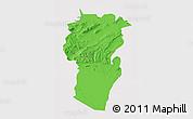 Political 3D Map of Khenchela, cropped outside