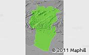 Political 3D Map of Khenchela, desaturated