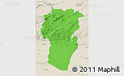 Political 3D Map of Khenchela, shaded relief outside