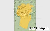 Savanna Style 3D Map of Khenchela