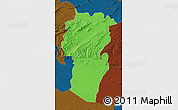 Political Map of Khenchela, darken