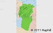 Political Map of Khenchela, lighten