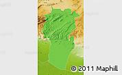 Political Map of Khenchela, physical outside