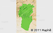 Political Map of Khenchela, satellite outside