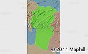 Political Map of Khenchela, semi-desaturated