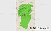 Political Map of Khenchela, shaded relief outside