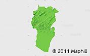 Political Map of Khenchela, single color outside