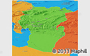 Political Panoramic Map of Khenchela