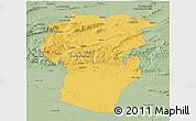 Savanna Style Panoramic Map of Khenchela