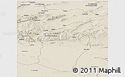 Shaded Relief Panoramic Map of Khenchela