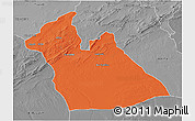 Political 3D Map of Laghouat, desaturated