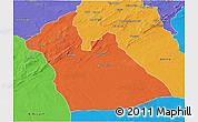 Political 3D Map of Laghouat
