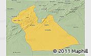 Savanna Style 3D Map of Laghouat