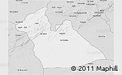 Silver Style 3D Map of Laghouat