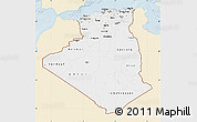 Classic Style Map of Algeria, single color outside