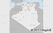 Gray Map of Algeria, single color outside