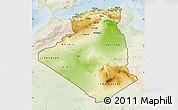 Physical Map of Algeria, lighten