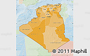 Political Shades Map of Algeria, lighten