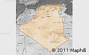 Satellite Map of Algeria, desaturated