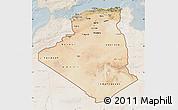 Satellite Map of Algeria, lighten