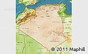 Satellite Map of Algeria, physical outside, satellite sea
