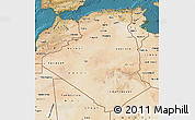 Satellite Map of Algeria
