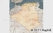 Satellite Map of Algeria, semi-desaturated