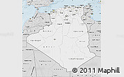 Silver Style Map of Algeria