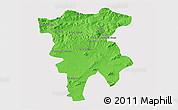 Political 3D Map of Mila, single color outside
