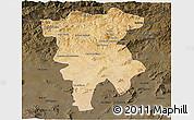 Satellite 3D Map of Mila, darken