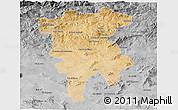 Satellite 3D Map of Mila, desaturated