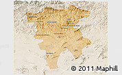 Satellite 3D Map of Mila, lighten