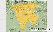 Savanna Style 3D Map of Mila