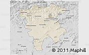 Shaded Relief 3D Map of Mila, desaturated