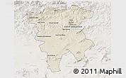 Shaded Relief 3D Map of Mila, lighten